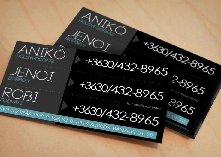 3 IN 1 . three hairdressers' name card