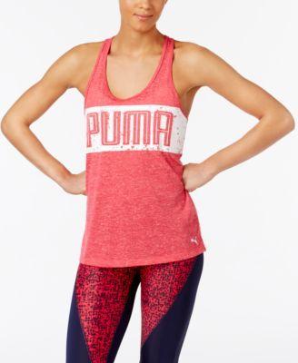 PUMA Puma Drycell Cross-Back Graphic Tank Top. #puma #cloth # activewear