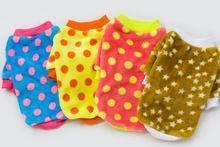 2015 marca Pet Shop atacado produtos Pet Dog Clothes filhote de cachorro roupa cor ponto dois pernas Pullover cães roupas e acessórios(China (Mainland))