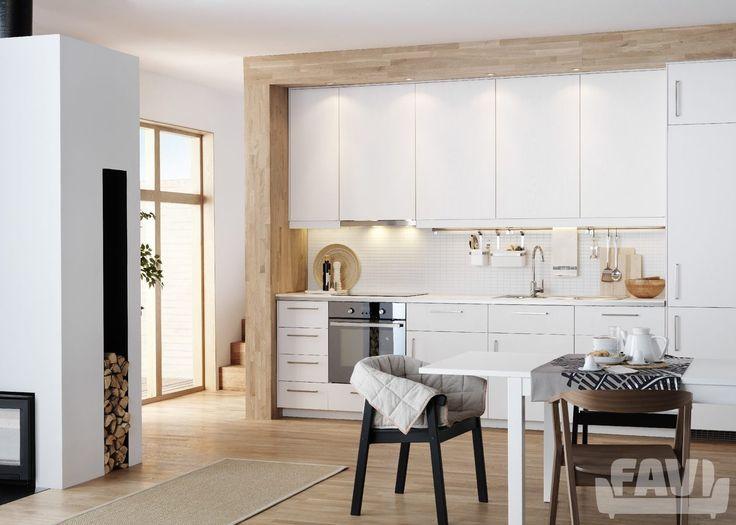 Romantická kuchyně inspirace - Světlé kuchyně IKEA - Favi.cz