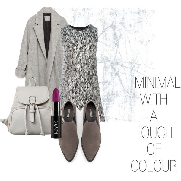 Minimal with a touch of colour by savanah-herbert on Polyvore featuring polyvore, fashion, style, Calvin Klein Collection and Zara