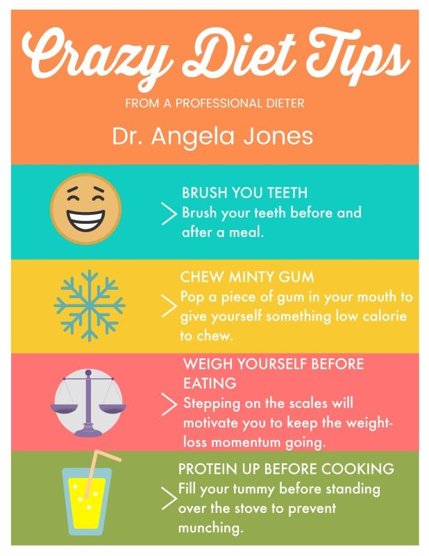 Crazy Diet Tips from a Professional Dieter and Weight-Loss Expert! Dr. Angela Ford Jones www.angelafordjones.com