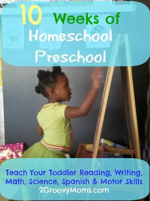 10 weeks of preschool activities. 2groovymoms.comhttp://2groovymoms.com/homeschool-preschool-activities/