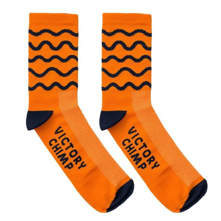 Hill Repeats Socks (Orange)