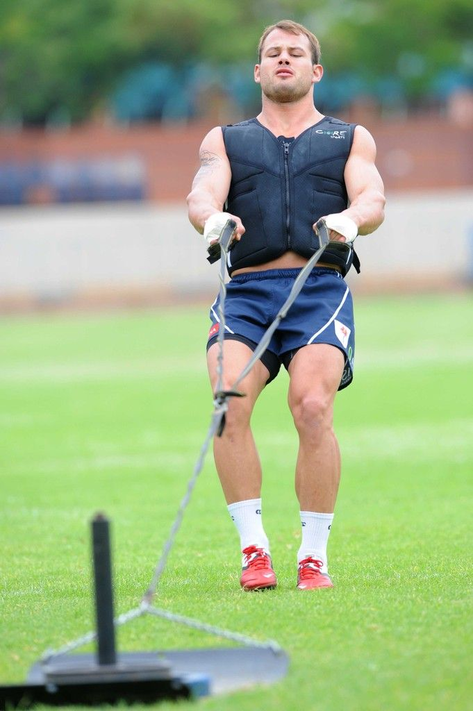 Francois Hougaard of the Vodacom Bulls takes part in a training session at Loftus Versfeld on November 30, 2011 in Pretoria, South Africa.