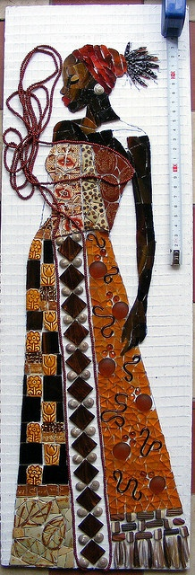 Monochromatic mosaic challenge - WIP 5 by stiglice - Judit, via Flickr