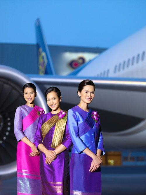 Thai Airways Cabin Crew: Airways Flight, Thai Airways, Cabin Crew, Stewardess Uniforms, Airways Cabin, Attendant Uniforms, Airways Stewardess, Airlines Cabin, Flight Attendant
