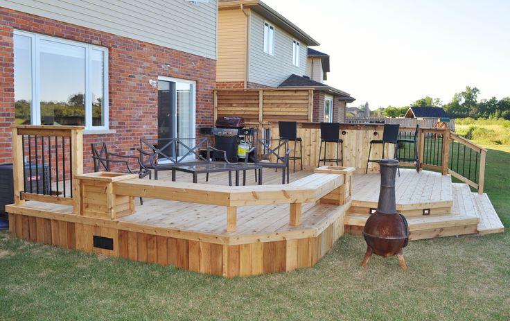 Patio Deck Bar Designs: Cedar Deck & Bar 2