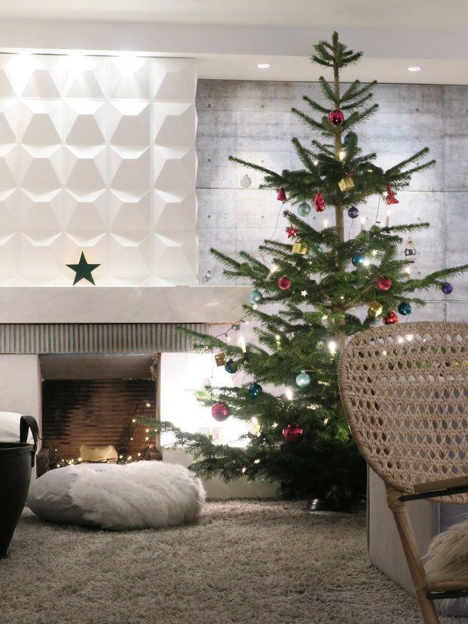Weihnachtsbaum 2016.... | SoLebIch.de - Foto von Mitglied _frida_ #solebich #interior #einrichtung #inneneinrichtung #deko #decor #weihnachten #christmas #advent #Weihnachtsdeko #christmasdecor #adventsdeko #adventdecor #weihnachtsbaum #christbaum #christmastree #kamin #fireplace #pouf