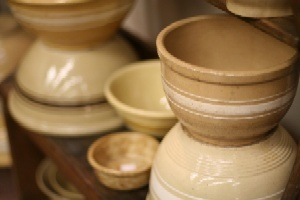 .: Yellowware Bowls, Mixing Bowls, Serving Bowls, Yellowware Pantry Bowls, Antique Bowls, Yelloware Bowls, Primitive Vintage Bowls, Yellow Ware