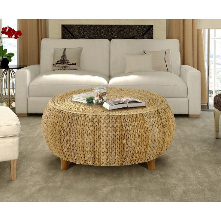 Gallerie Decor Bali Breeze Low Round Coffee Table | Overstock.com Shopping - The Best Deals on Coffee, Sofa & End Tables