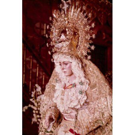 Madonna de la Macarena artist unknown sculpture Spain Seville Canvas Art - (18 x 24)