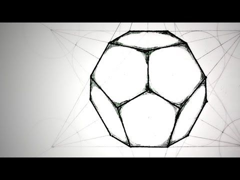 How To Draw/kleurencirkel Dodecahedron - The 5 Platonic Solids - YouTube
