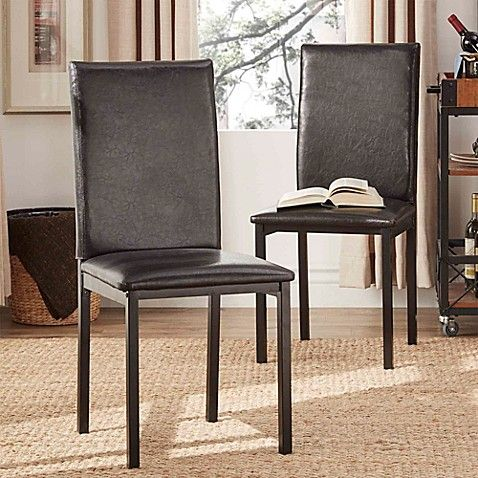 Staging 95 For 2 Bbb Verona Home Colby Metal Side Chairs With Faux Leather Upholstery Set Of