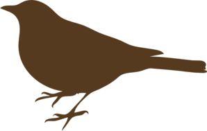 Brown Song Bird  clip art