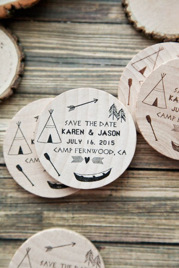 75 Camp Lake Forest Wedding    Rustic Save the by RedCloudBoutique, $125.00