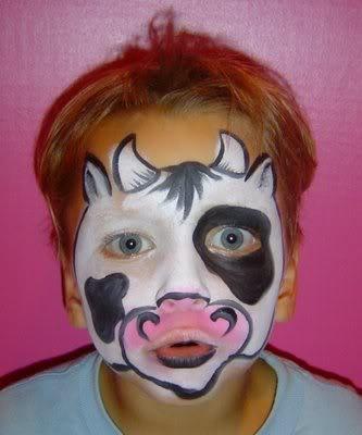 Cow facepaint