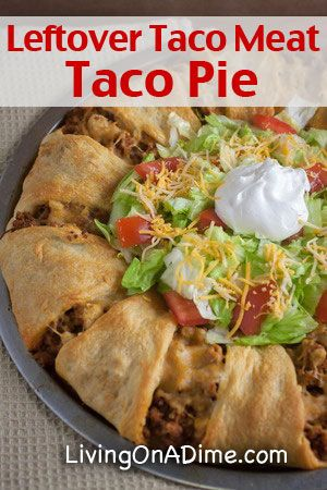 Taco Pie Recipe - Use That Leftover Taco Meat! (AND SOUR CREAM LEMON PIE)