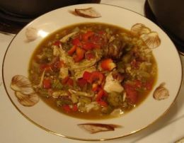 Chicken and Andouille Sausage Gumbo -Gumbo is a quintessential dish in Cajun cuisine. But, what is Gumbo? The word Gumbo actually refers to Okra. Okra is used as a thickening agent to this Cajun soup; thus the name of the soup became Gumbo. An Okra Gumbo can contain chicken, sausage or any kind of seafood. My favorite Gumbo is Chicken & Sausage Gumbo or a Seafood Gumbo containing shrimp, crawfish, crabmeat and oysters.--Chicken and Sausage Gumbo Recipe Now Doesn't That Look Good!