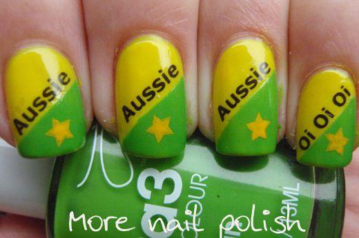 Aussie, Aussie, Aussie | 27 Awesome Nail Art Designs For Australia Day