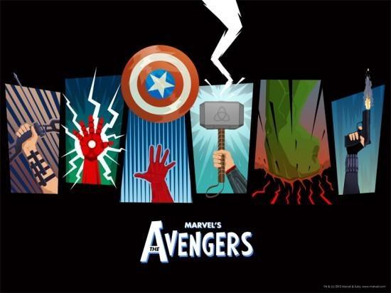 Avengers DVD poster by Matthew Ferguson