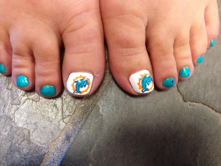Free hand Miami Dolphins Logo 〽️ - Best 25+ Miami Dolphins Nails Ideas On Pinterest Feather Nail