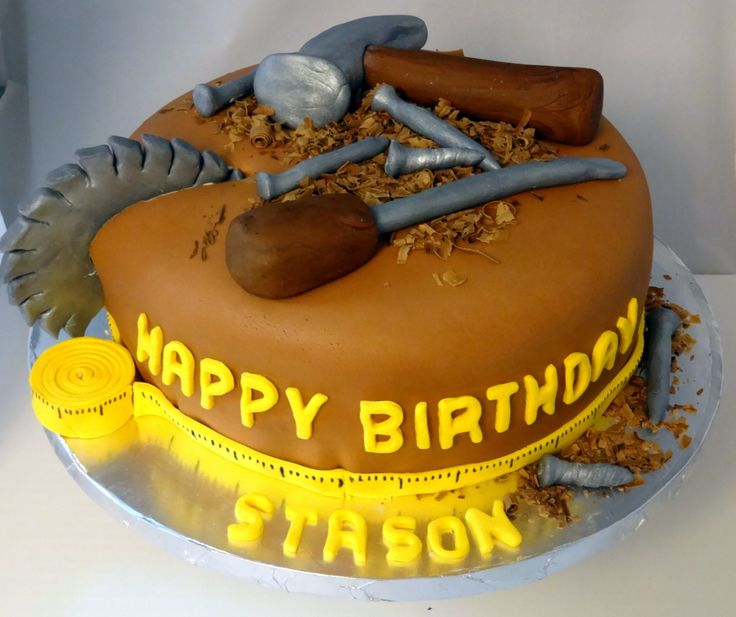 Woodworking Handy Man Cake Father S Day Husband Manly