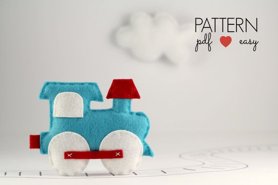 Felt Train Nursery Decor Baby Mobile Sewing Pattern