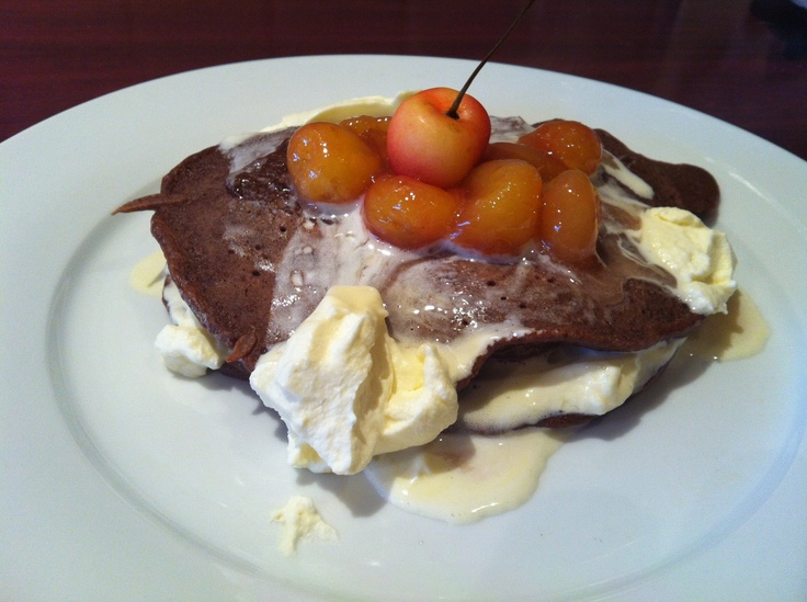 Black Forest Pancakes with Ranier Cherries! Original recipe from www ...