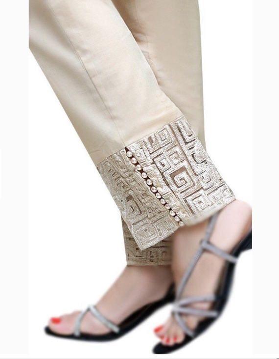 Pantalones pitillo de lujo paquistaní