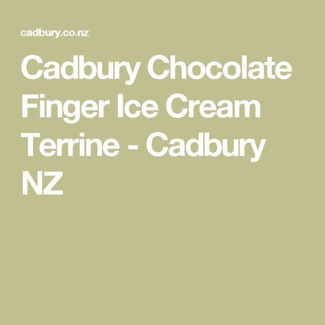 Cadbury Chocolate Finger Ice Cream Terrine - Cadbury NZ