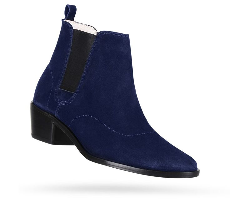 Auguste Boots Classic blue Calfskin suede