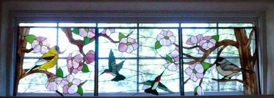 Bird Water Stained Glass