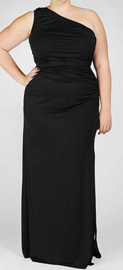 Rachel Pally Plus Size Black Floor Length Dress