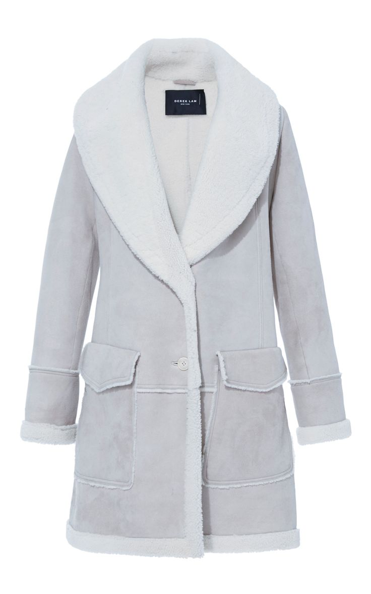Shearling Shawl Collar Coat by DEREK LAM for Preorder on Moda Operandi