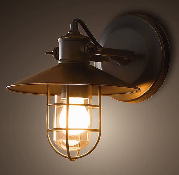 Harbor Sconce, $99-$129 from Restoration Hardware, www.restorationhardware.com    Update your exterior lighting with a little touch of the harbour!