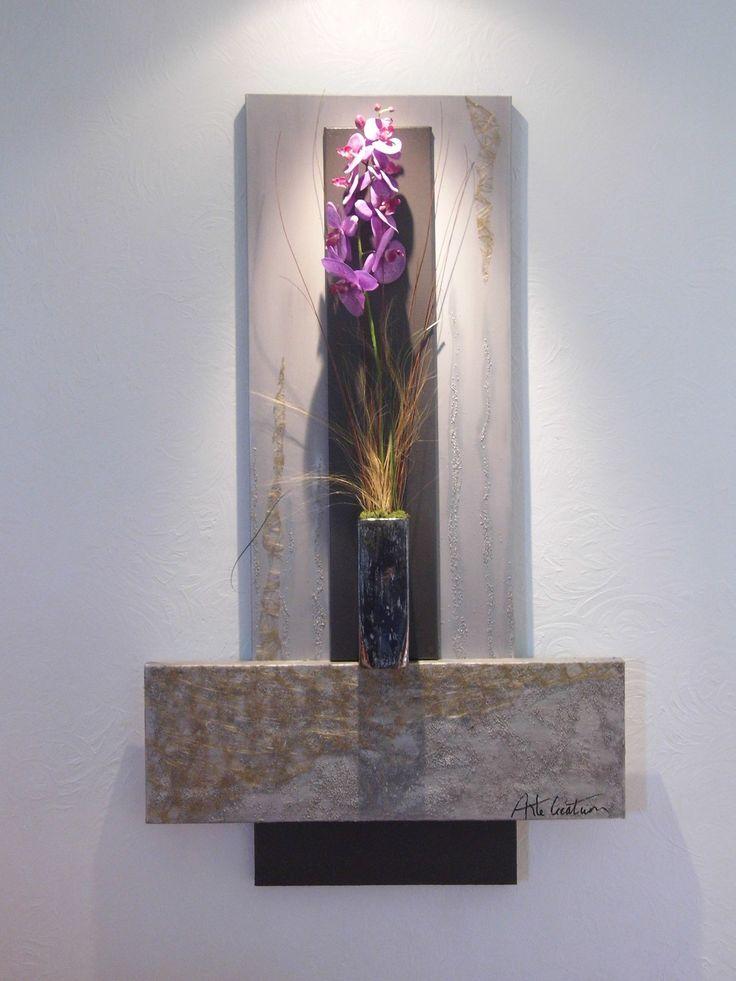 tableau floral mural d co tendance d corations murales. Black Bedroom Furniture Sets. Home Design Ideas