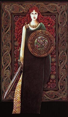 celtic goddess macha | Goddess Macha,(pronounced MOCK-uh) - LEGION of PAGAN goddess of victory, success, protection, fertility, fire.  symbols are red items, acorn, crow.