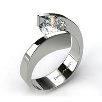 Awesome simple ring design.  I would replace the diamond though with an orange sapphire.