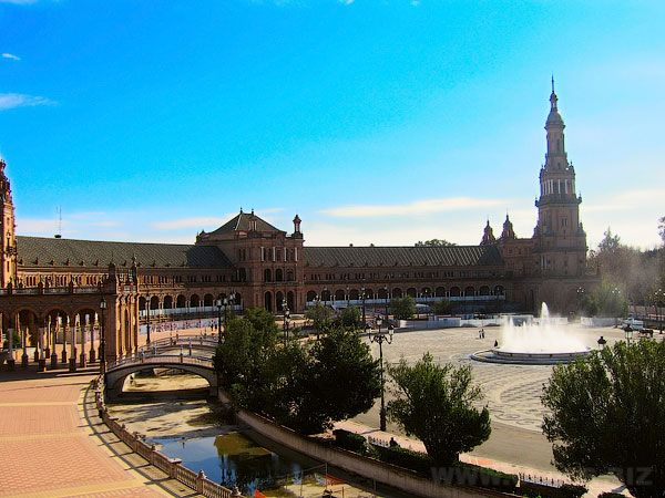 Города Испании. Севилья. Площадь Испании.