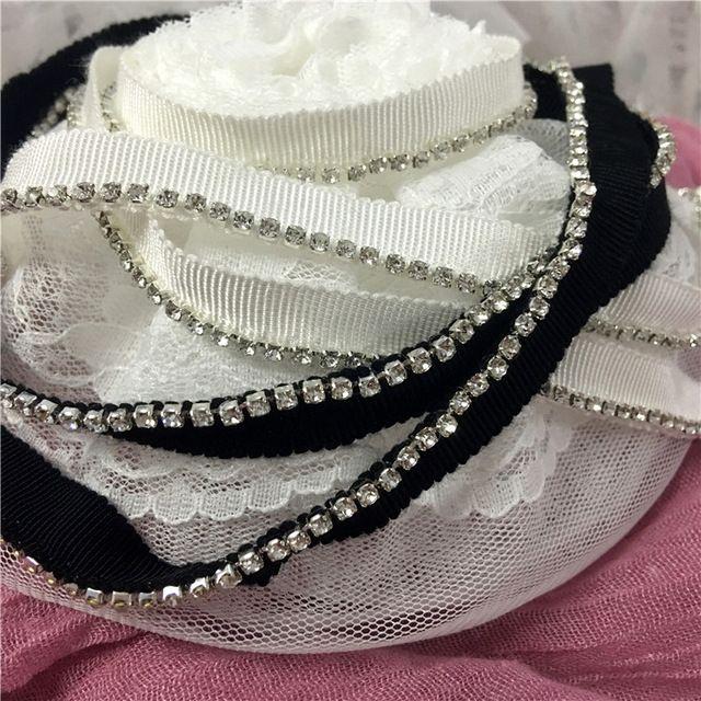 5 ярд Бисера кружевной отделкой Вышитые Стразами кружевной отделкой Ленты кружева Свадебное Платье Куклы одежда юбка швейные аксессуары