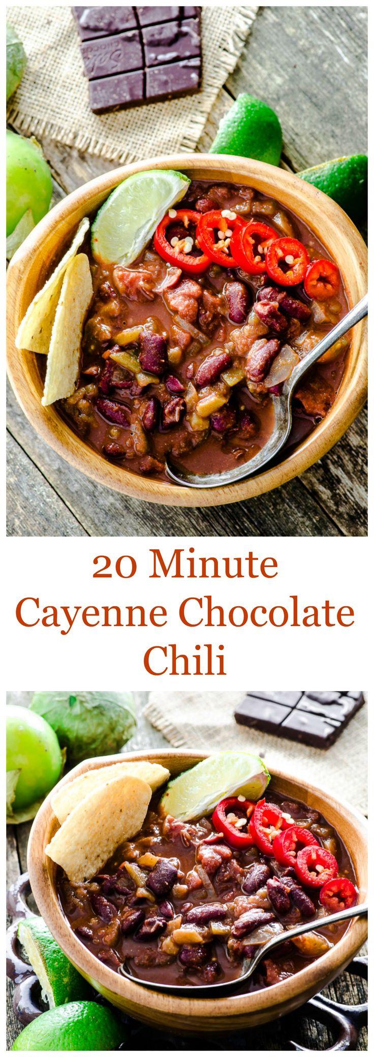20 Minute Cayenne Chocolate Chili