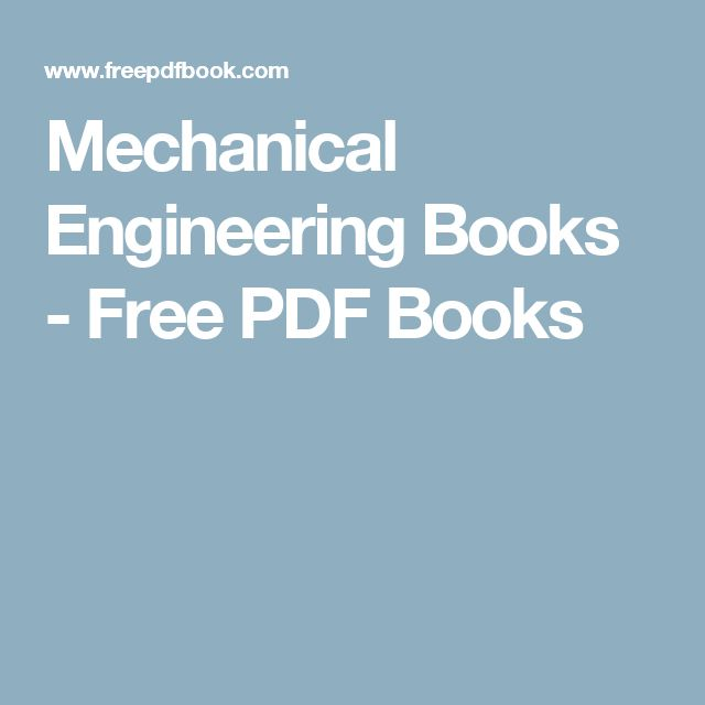 Mechanical Engineering Books - Free PDF Books
