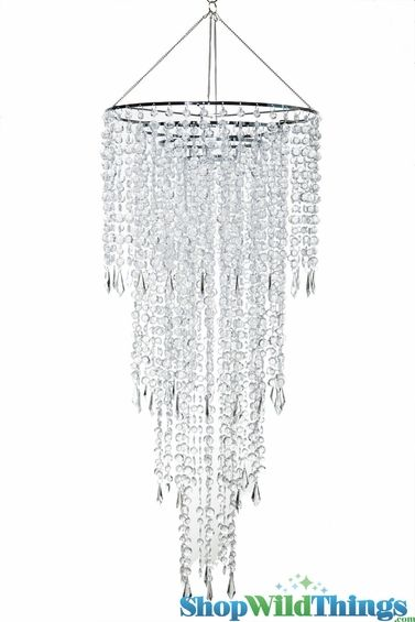 21 best wedding chandeliers images on pinterest crystal chandelier fifth avenue 4 tiers clear non iridescent 3 ft long wedding chandelier mozeypictures Choice Image