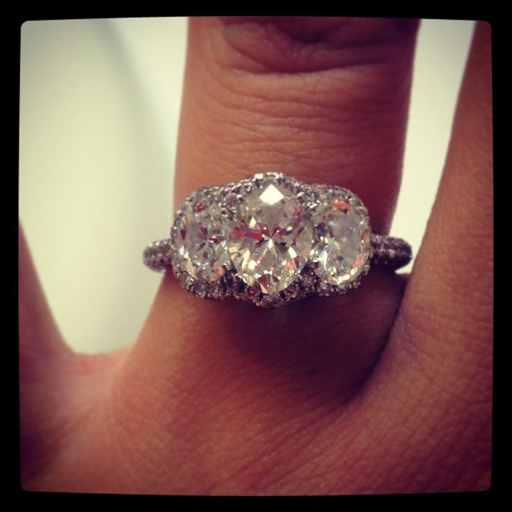 Love my engagement ring. 2.3 carat Neil lane 3 stone ...