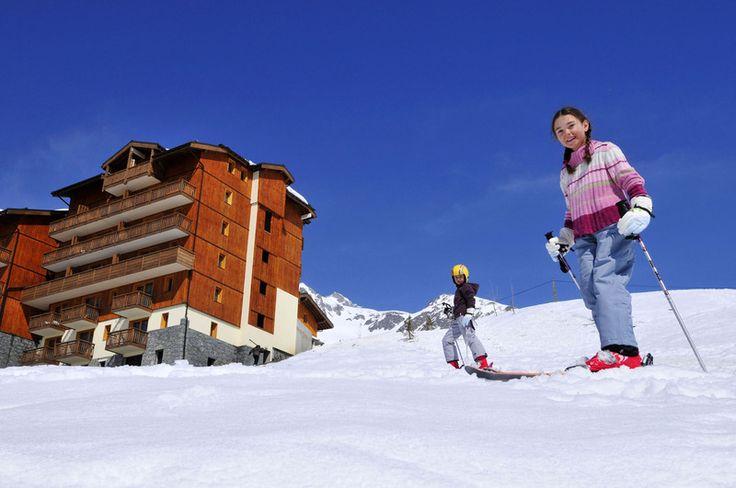 krásné lyžování ve Francii