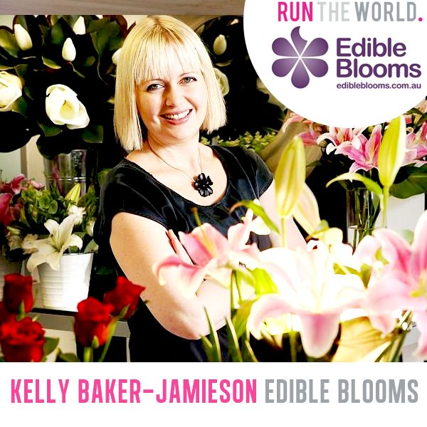 Run The World Female Entrepreneur Conference - Oct 25 2014 Melbourne Australia.   Kelly Baker-Jamieson, Founder of Edible Blooms www.edibleblooms.com.au  www.runtheworld.com.au