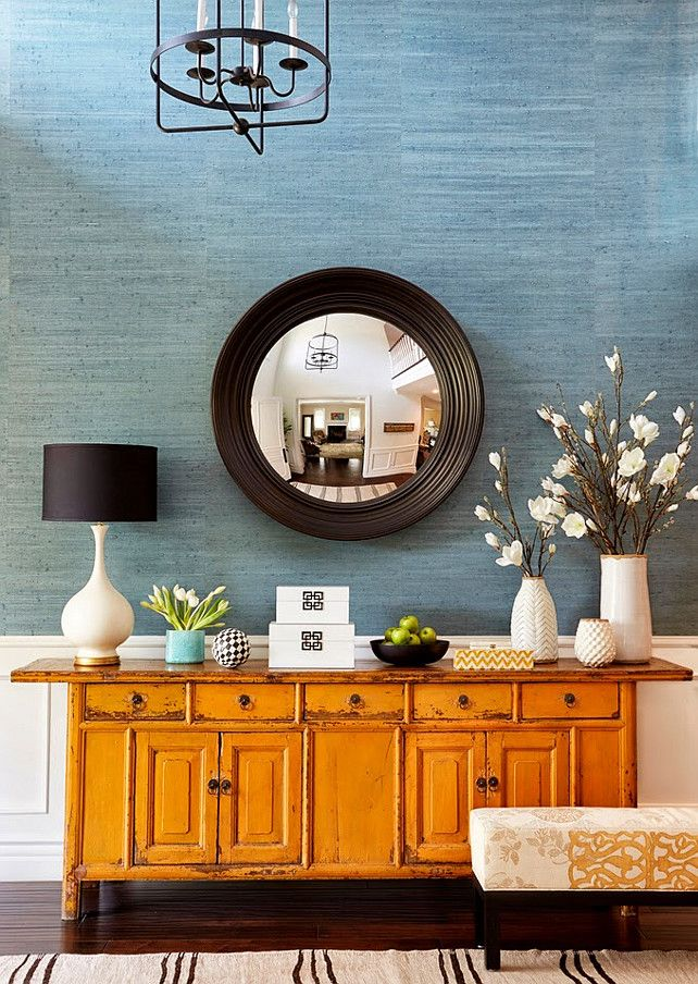 living room teal grasscloth wallpaper - photo #31