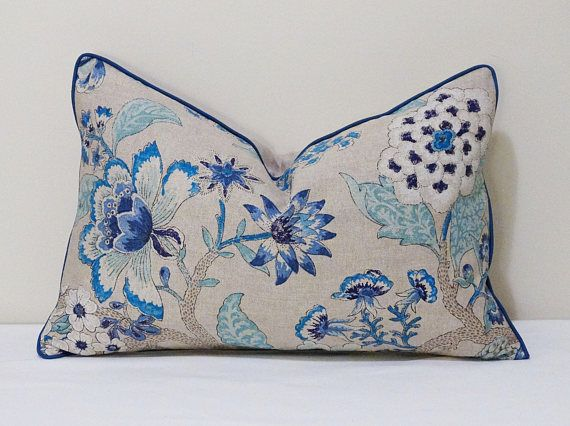 Check out this item in my Etsy shop https://www.etsy.com/au/listing/555993366/blue-and-beige-floral-cushion-cover  add some life as well as sophistication to your room, these cushions with a stunning range of vivid colors including navy, sapphire, sky blue, cobalt and crisp white on a beige background, very astonishing pattern and nice soft feel to them