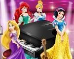 Em Princesas Disney Musica Magica, as Princesas Disney montaram uma banda e vão fazer uma apresentação. Elas estão ensaiando muito para que tudo dê certo. Junte-se a Cinderela, Ariel, Rapunzel e Branca de Neve e tenha bons momentos tocando violão, piano e cantando. Use suas habilidades musicais para criar a festa mais magica de todas. Divirta-se com as Princesas Disney!